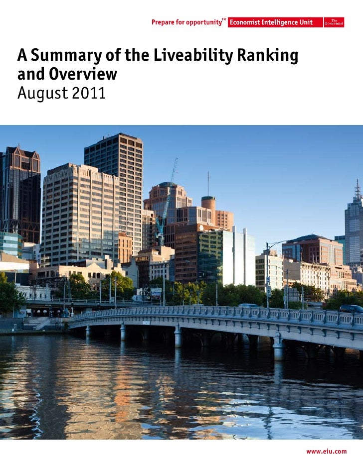 TMA Summary of the Liveability Rankingand OverviewAugust 2011                                       www.eiu.com