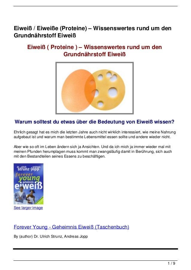Eiweiß / Eiweiße (Proteine) – Wissenswertes rund um den Grundnährstoff Eiweiß