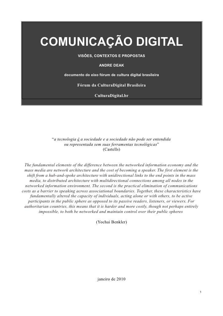 Documento do Eixo Comunicacao Digital