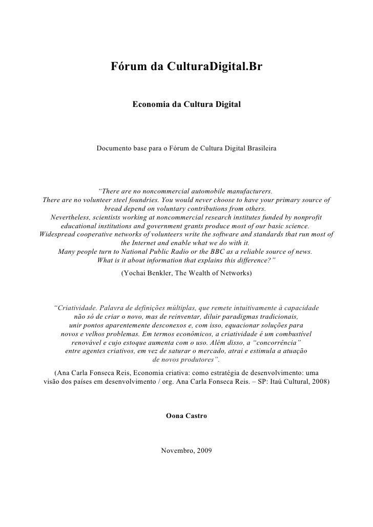 Documento do Eixo Economia Cultura Digital