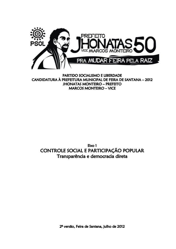 Eixo 1 programa de governo jhonatas50