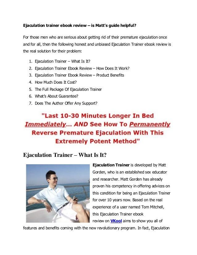 the ejaculation trainer by matt gorden pdf