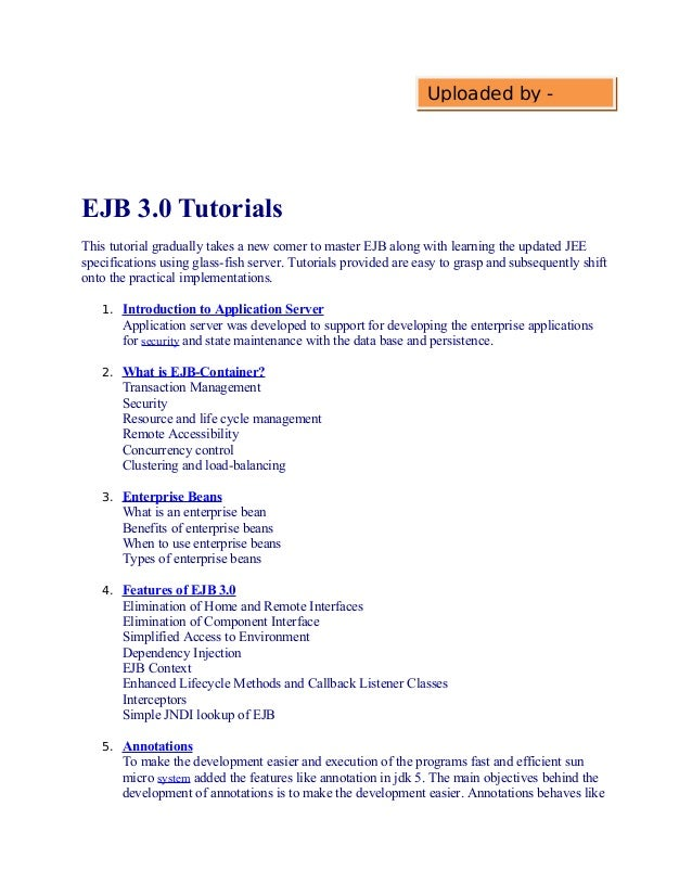 EJB Tutorials Learn EJB with Simple Examples
