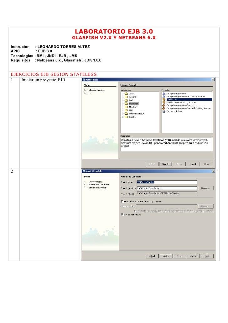 Ejb 3.0 Glassfish 2.X Netbeans 6.X