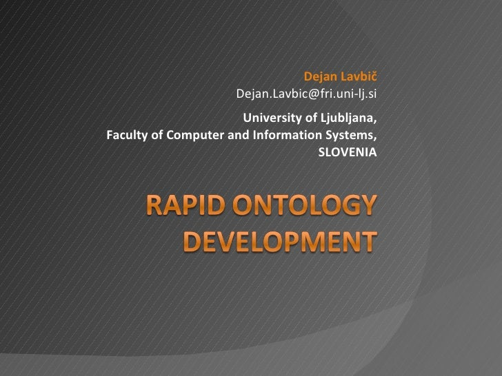 Rapid Ontology Development