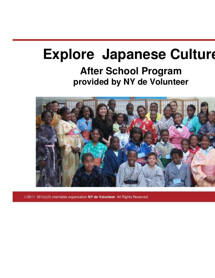 Explore Japanese Culture After School Program 2011