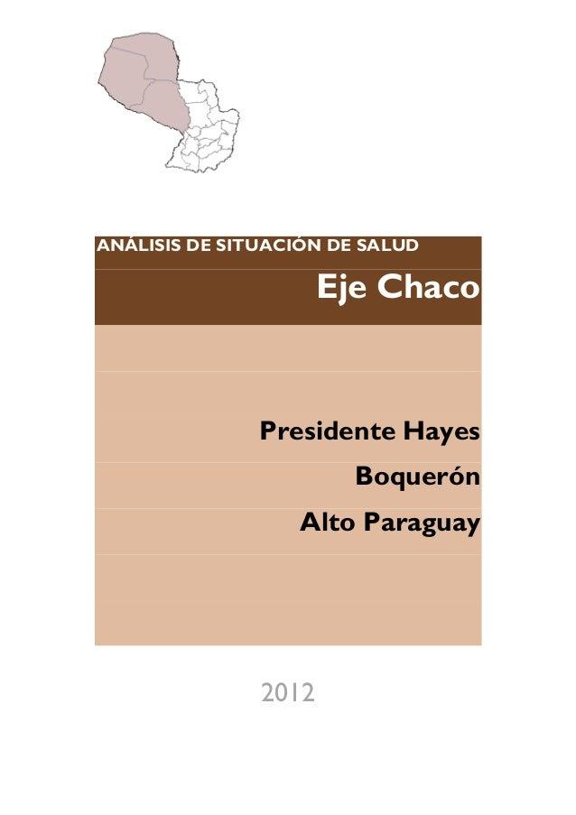Analisis de situacion de salud, Paraguay, Eje Chaco