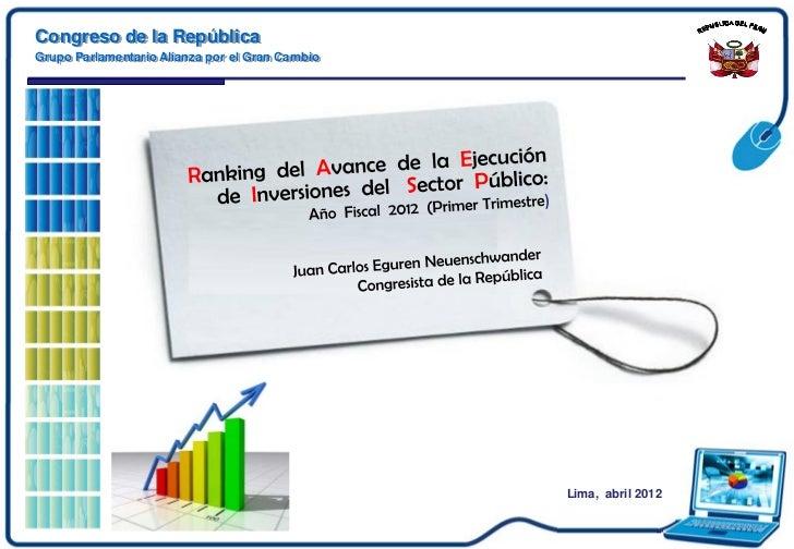 Ejecución presupuestal al primer trimestre  20 12-2