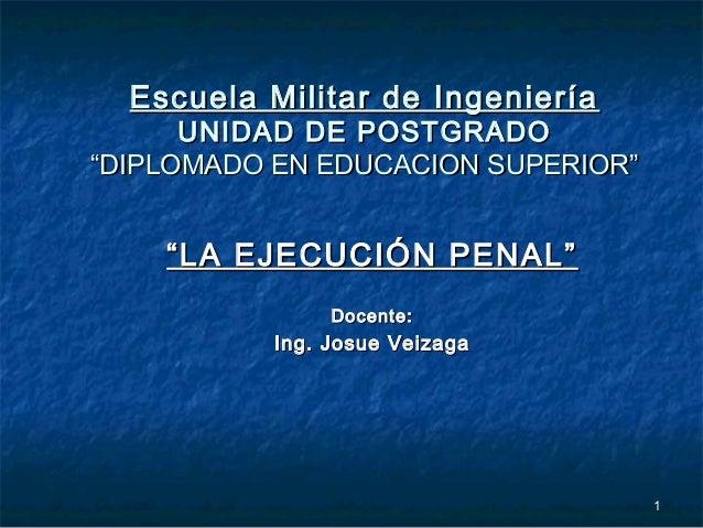 """11 Escuela Militar de IngenieríaEscuela Militar de Ingeniería UNIDAD DE POSTGRADOUNIDAD DE POSTGRADO """"DIPLOMADO EN EDUCACI..."""