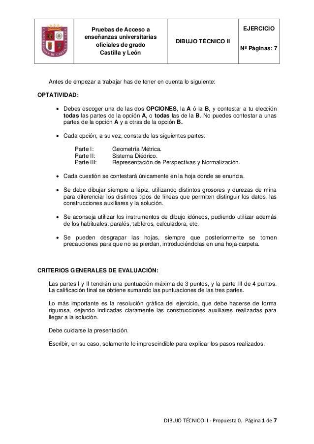 DIBUJOTÉCNICOII‐Propuesta0.Página1de7  Antes de empezar a trabajar has de tener en cuenta lo siguiente: OPTATI...