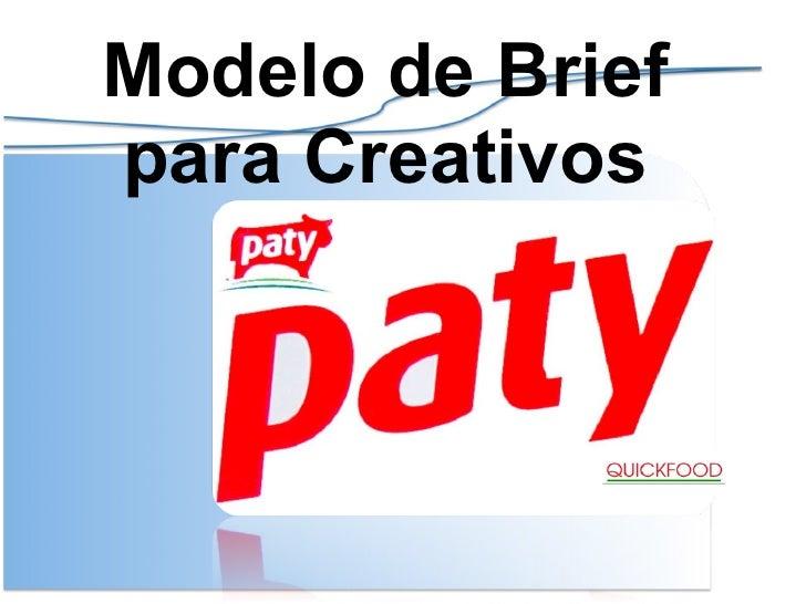 Modelo de Brief para Creativos