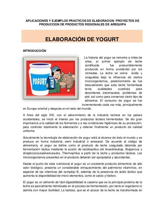 APLICACIONES Y EJEMPLOS PRACTICOS DE ELABORACION PROYECTOS DE         PRODUCCION DE PRODUCTOS REGIONALES DE AREQUIPA      ...