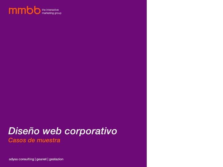 Diseño web corporativo Casos de muestra
