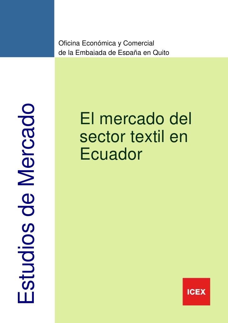 Ejemplos de investigacion de mercado s en ecuador