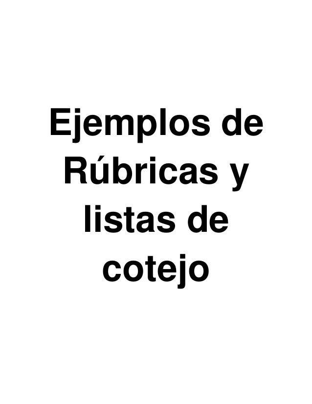Ejemplos De Listas De Cotejos   apexwallpapers.com