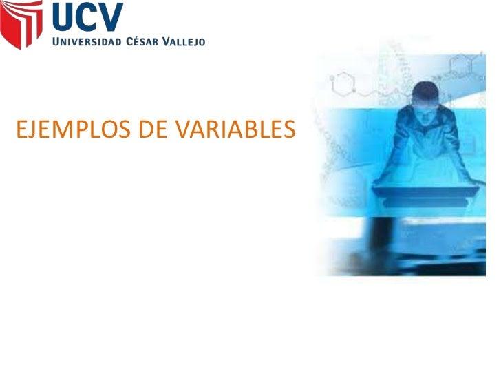 Ejemplos de variables