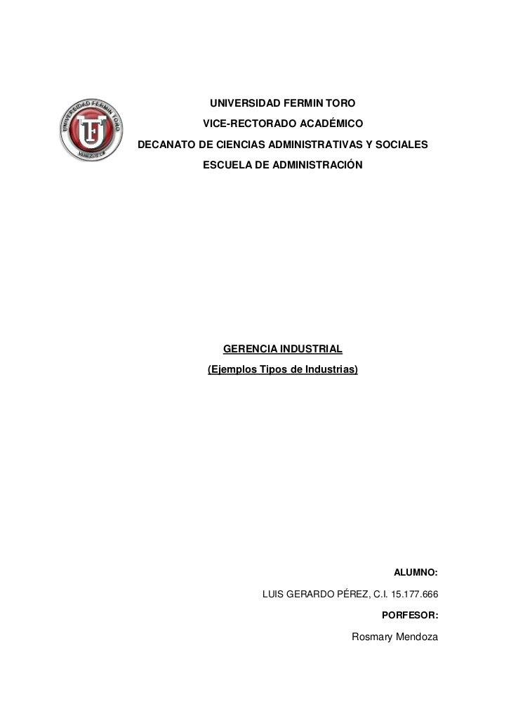 UNIVERSIDAD FERMIN TORO          VICE-RECTORADO ACADÉMICODECANATO DE CIENCIAS ADMINISTRATIVAS Y SOCIALES          ESCUELA ...
