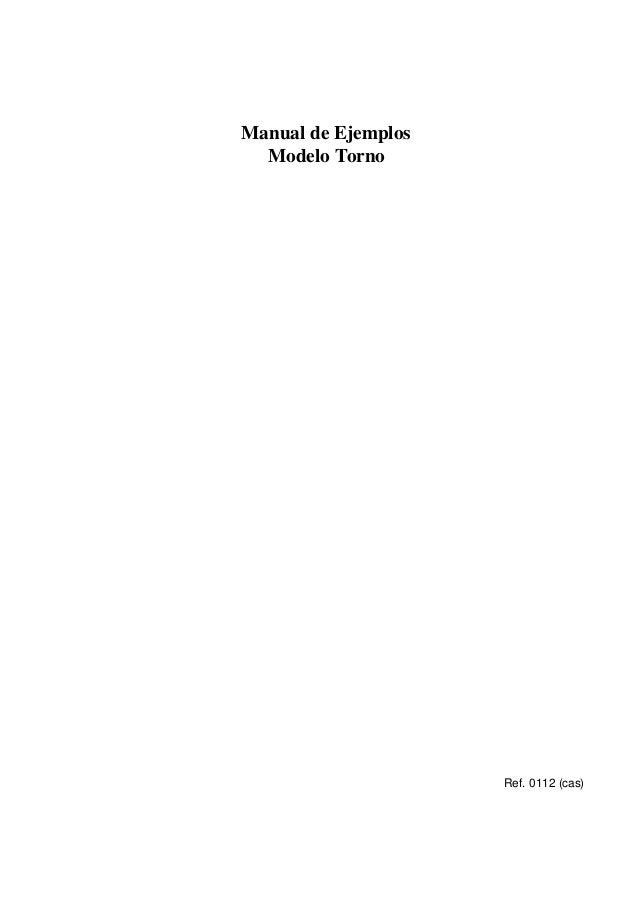 Manual de Ejemplos Modelo Torno  Ref. 0112 (cas)