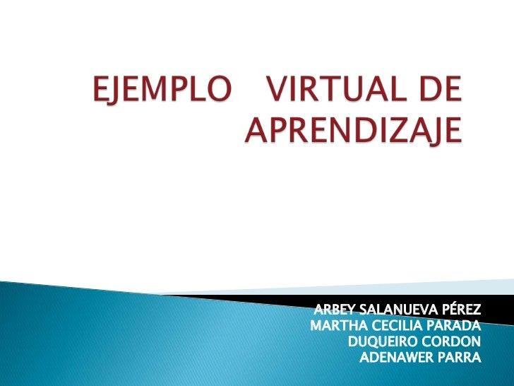 Ejemplo   virtual de aprendizaje