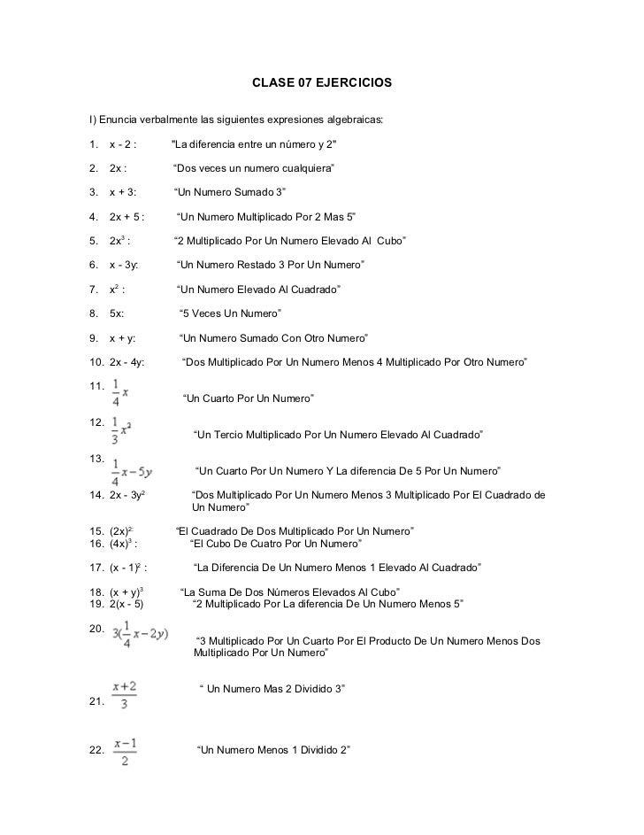 Solución De Ejercicios de Matemáticas