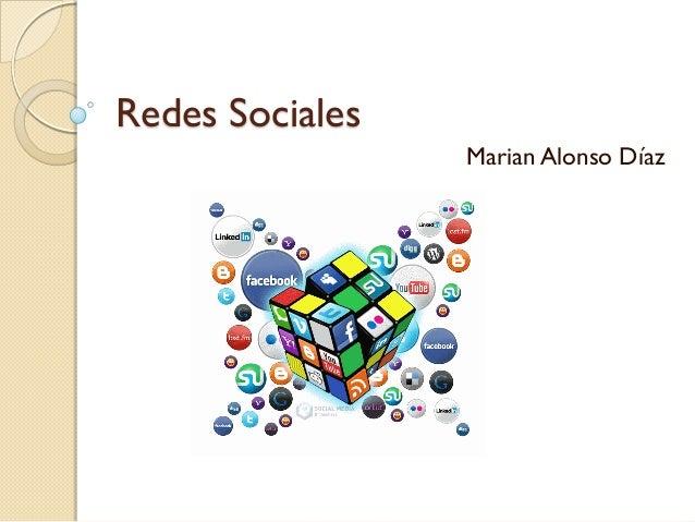 Redes Sociales Marian Alonso Díaz