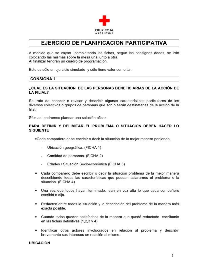 Ejercicio de planificacion participativa