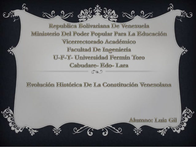 Constitución Federal de los Estados de Venezuela de 1811  Constitución de la República de Venezuela de 1819 Gran Colombia ...
