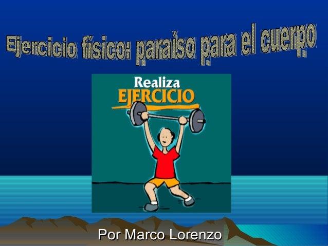 Por Marco LorenzoPor Marco Lorenzo