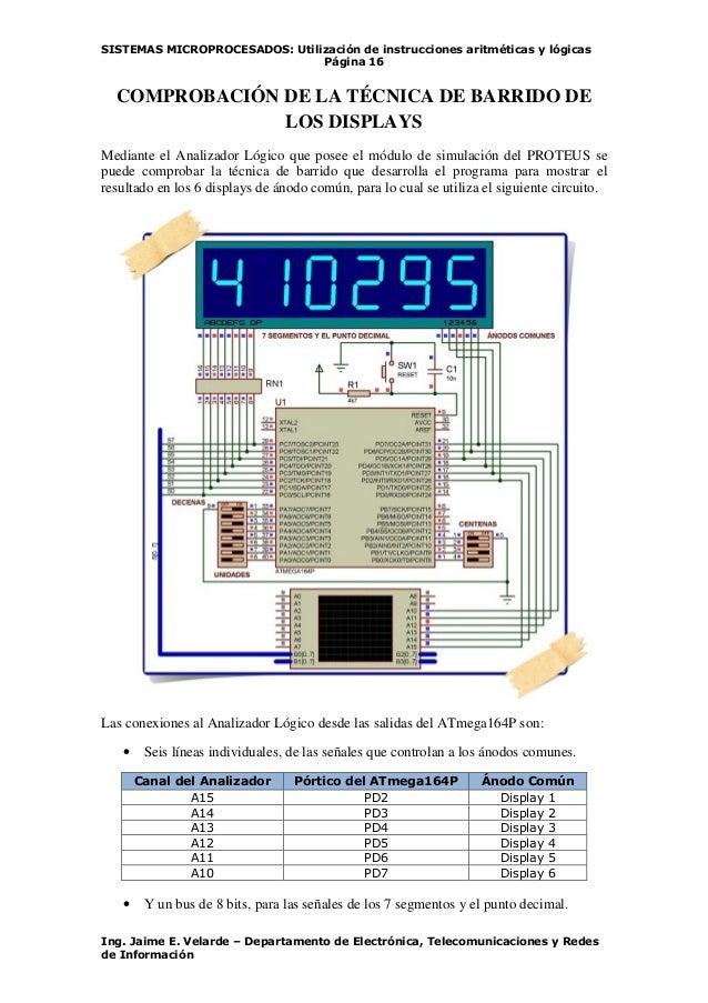 SISTEMAS MICROPROCESADOS: Utilización de instrucciones aritméticas y lógicas Página 16 Ing. Jaime E. Velarde – Departament...
