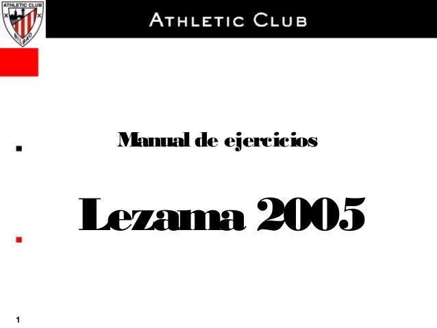 Ejercicios athletic bilbao 2005