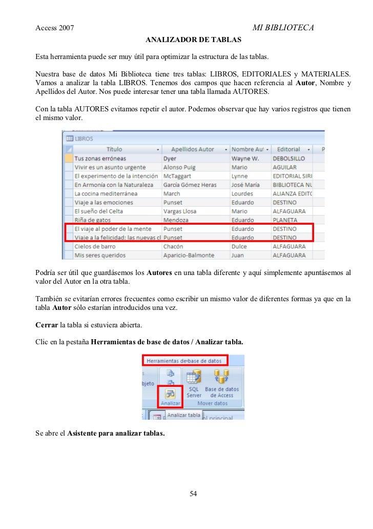 Access 2007                                                              MI BIBLIOTECA                                    ...