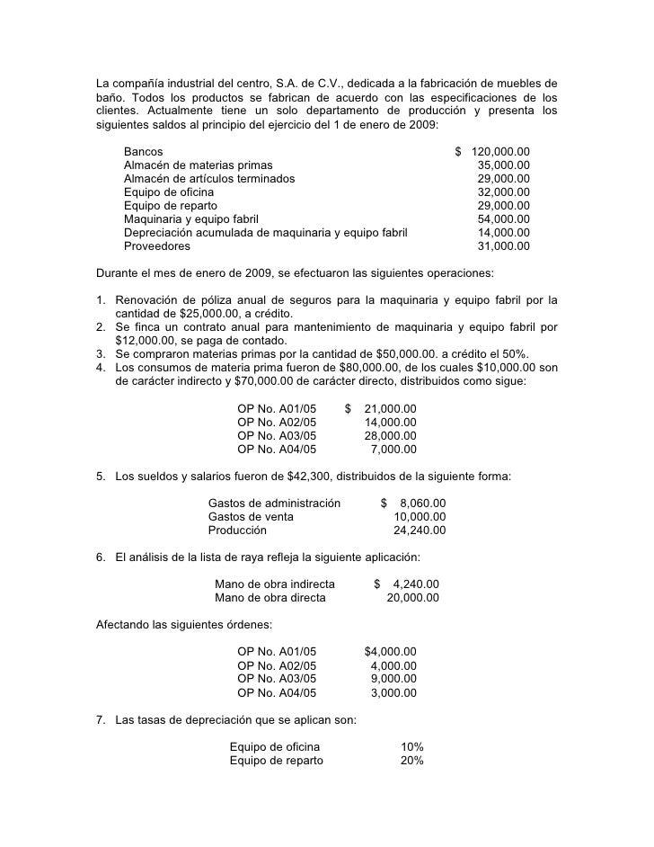 ejercicios contabilidad: