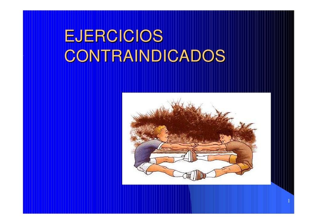 EJERCICIOS CONTRAINDICADOS                       1