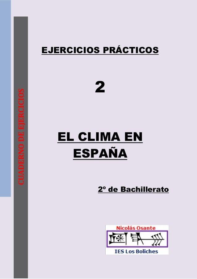 Ejercicios de CLIMA y exámenes PAU Andalucía