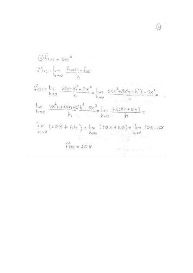 Ejercicios de derivada
