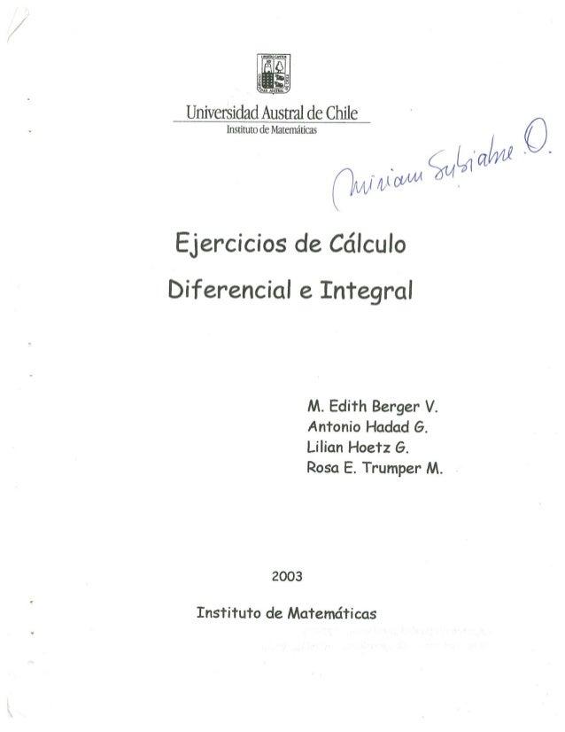 Ejercicios derivada e integrales