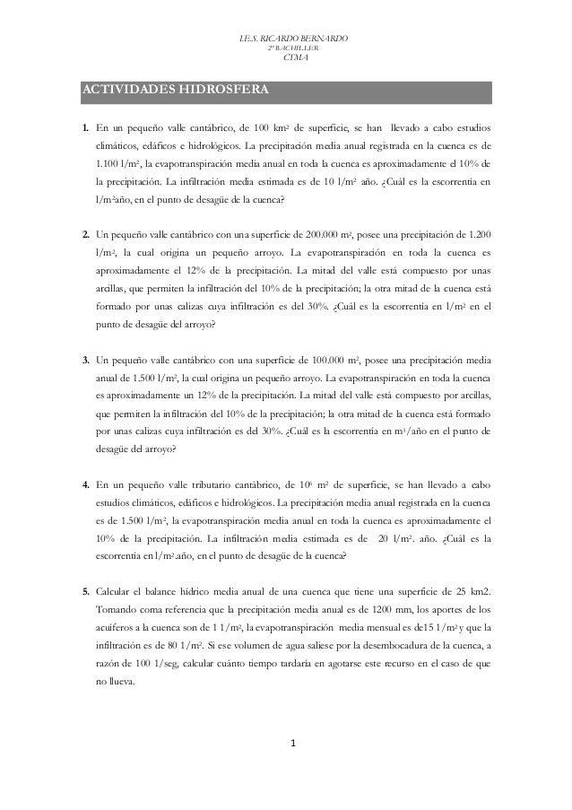 I.E.S. RICARDO BERNARDO                                              2º BACHILLER                                         ...