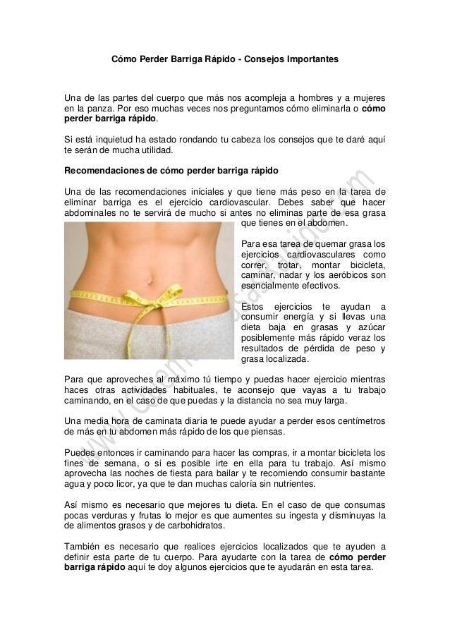 Ejercicios para bajar de peso en una semana