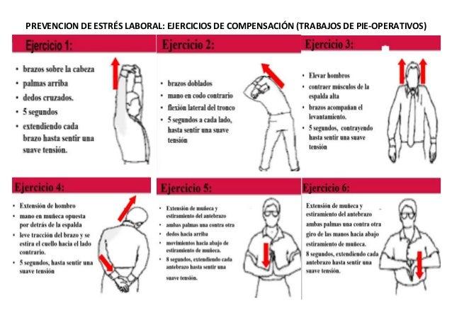 PREVENCION DE ESTRÉS LABORAL: EJERCICIOS DE COMPENSACIÓN (TRABAJOS DE PIE-OPERATIVOS)