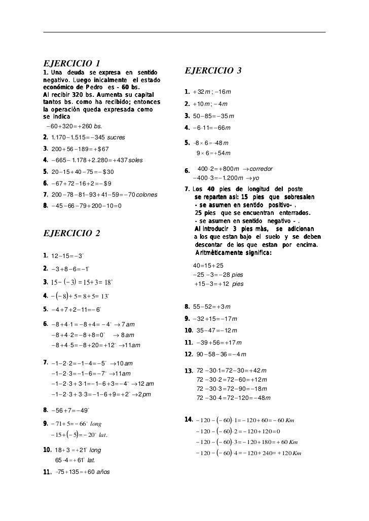 Ejercicios resueltos de el algebra de baldor
