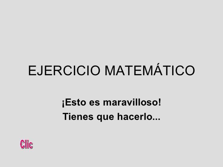 Ejercicoo matematico