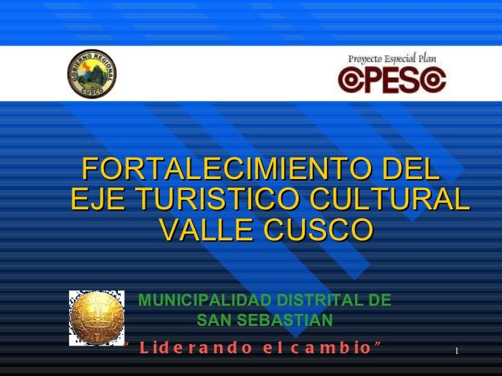 Eje Valle Sur Financiamiento CUZCO