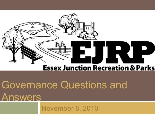 Governance Questions and Answers November 8, 2010