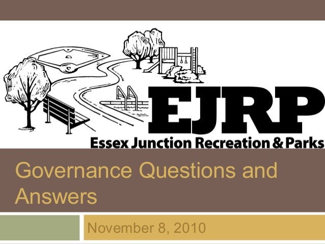 EJRP Governance Questions & Answers