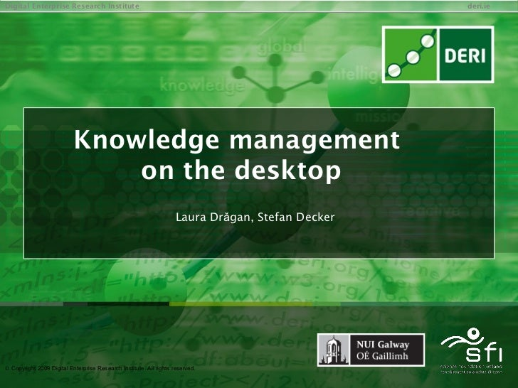Knowledge management on the desktop