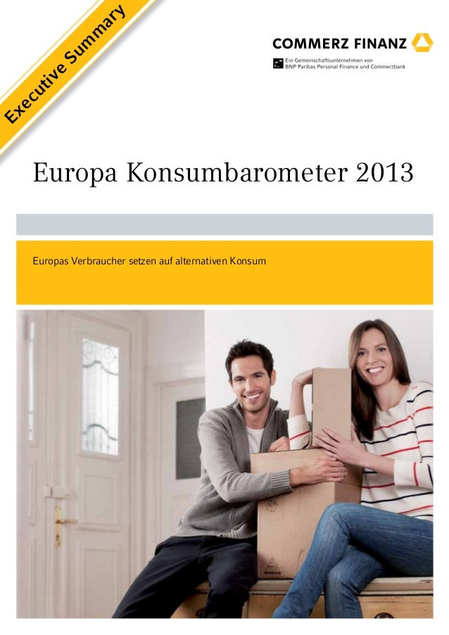Europa Konsumbarometer 2013 (Executive Summary)