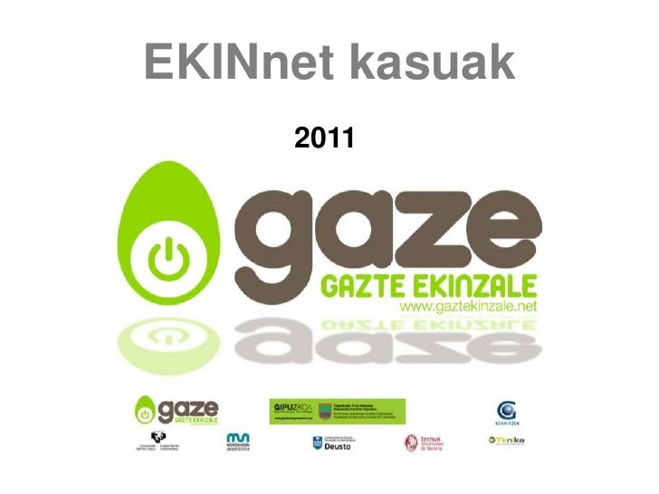 EKINnet kasuak     2011