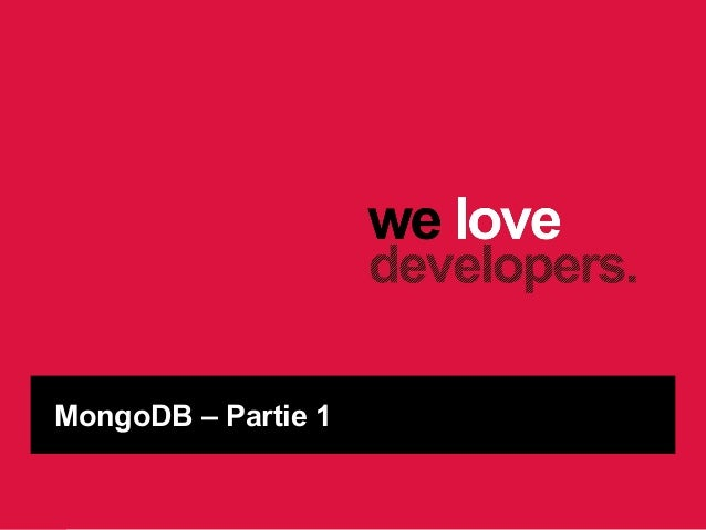MongoDB – Partie 1