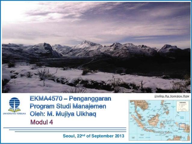 EKMA4570 -  Penganggaran - Modul 4