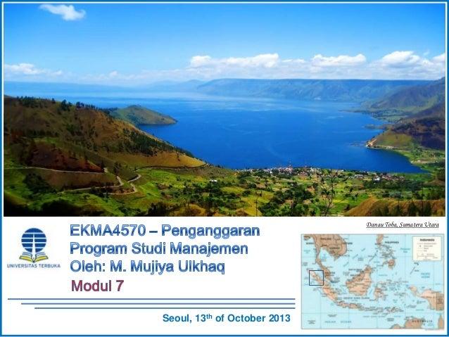 EKMA4570 -  Penganggaran - Modul 7